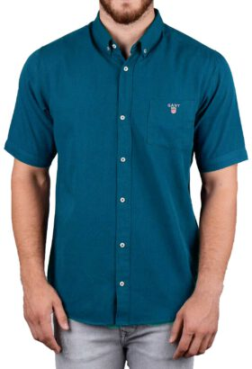 پیراهن مردانه آستین کوتاه کلاسیک GANT آبی 2126