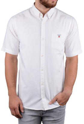 پیراهن آستین کوتاه مردانه GANT سفید 2119