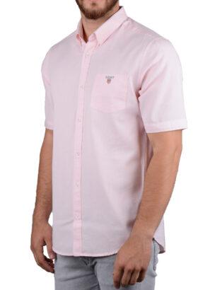 پیراهن مردانه آستین کوتاه کلاسیک GANT صورتی 2122