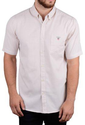 پیراهن مردانه آستین کوتاه کلاسیک GANT کرم 2125