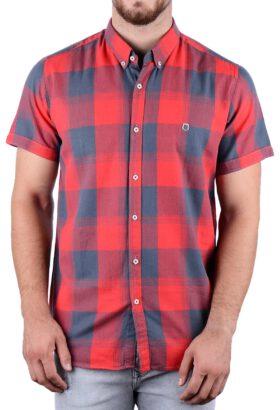 پیراهن آستین کوتاه مردانه Hermes قرمز 2151