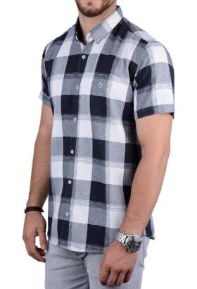 پیراهن آستین کوتاه مردانه Hermes طوسی 2150