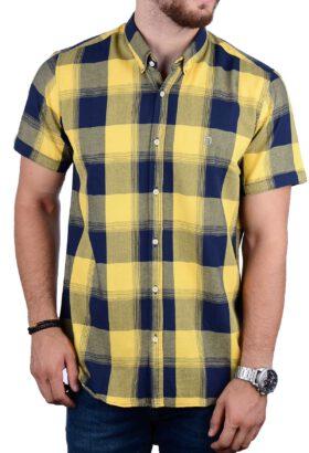 پیراهن آستین کوتاه مردانه Hermes زرد 2149