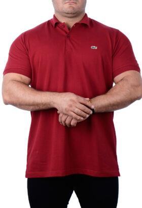 پولوشرت مردانه جودون سایز بزرگ LACOSTE قرمز 2137