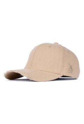 کلاه مردانه کتان خاکی مدل 427