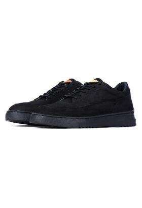 کفش راحتی مردانه چرم طبیعی GARNET مشکی 696