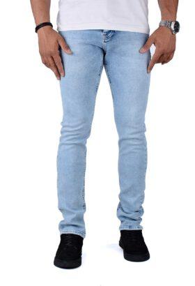 شلوار جین مردانه راسته Zu-elements آبی روشن مدل 679