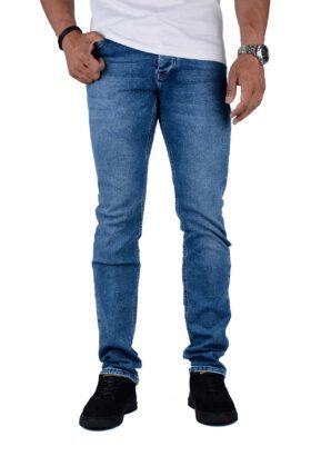 شلوار جین مردانه راسته Zu-elements آبی تیره مدل 680