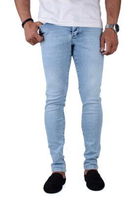 شلوار جین مردانه اسکینی Fendi آبی روشن مدل 692