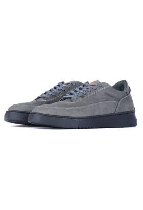 کفش روزمره مردانه چرم طبیعی GARNET طوسی