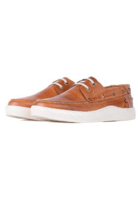 کفش کالج مردانه W.M قهوهای روشن 699