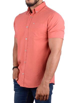 پیراهن مردانه کلاسیک POLO مرجانی 2195