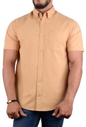پیراهن مردانه کلاسیک POLO بژ 2196