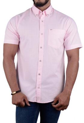 پیراهن مردانه کلاسیک POLO صورتی 2198