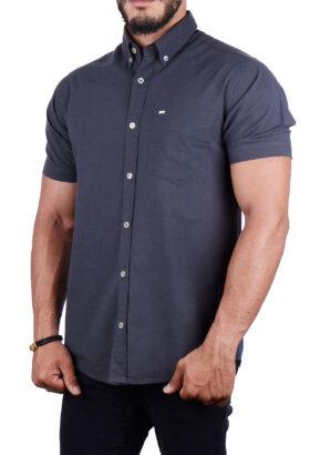پیراهن مردانه کلاسیک POLO ذغالی 2197