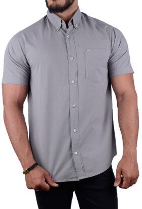 پیراهن مردانه کلاسیک POLO طوسی 2194