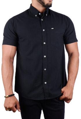 پیراهن مردانه کلاسیک POLO مشکی 2192