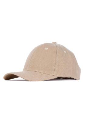 کلاه مردانه کتان کرم مدل 449