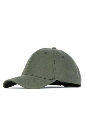 کلاه مردانه کتان زیتونی