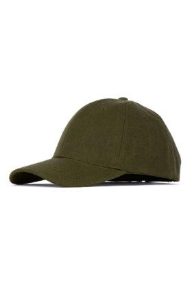 کلاه مردانه کتان زیتونی مدل 453