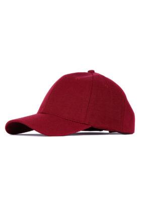 کلاه مردانه کتان زرشکی مدل 454