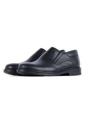 کفش رسمی مردانه چرم طبیعی مشکی 716