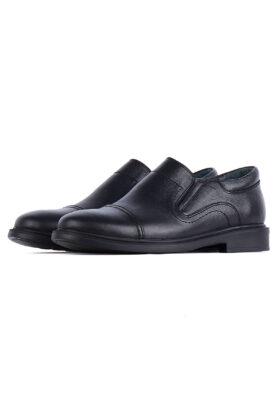 کفش رسمی مردانه چرم طبیعی مشکی 713