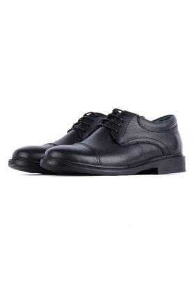 کفش رسمی مردانه چرم طبیعی مشکی 714