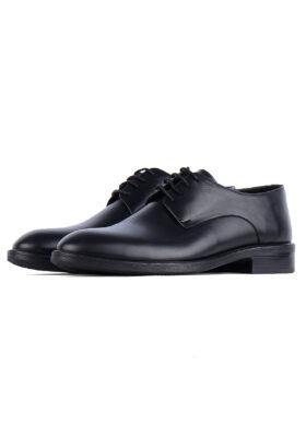 کفش رسمی مردانه چرم طبیعی مشکی 720