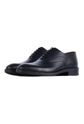 کفش رسمی مردانه چرم طبیعی مشکی 719