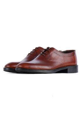 کفش رسمی مردانه چرم طبیعی قهوهای روشن 718
