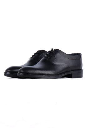کفش رسمی مردانه چرم طبیعی مشکی 717