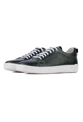 کفش روزمره مردانه چرم طبیعی سبز