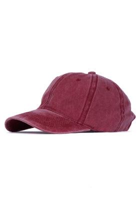 کلاه مردانه کتان زرشکی مدل 459