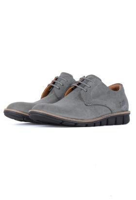کفش روزمره مردانه چرم طبیعی CAT طوسی741