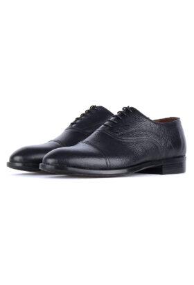 کفش رسمی مردانه چرم طبیعی مشکی 744