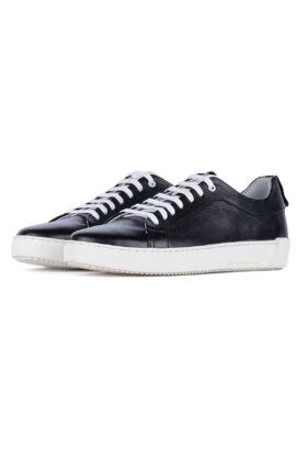 کفش روزمره مردانه چرم طبیعی مشکی 743