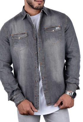 پیراهن جین مردانه K.R طوسی 2277